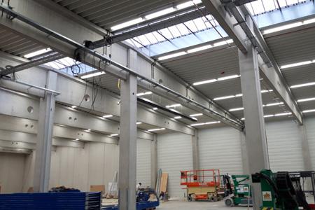 Lagerhalle Modellreihe TUBES Referenz protec ENERGYPLUS GmbH