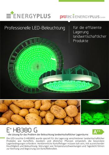 Beleuchtung landwirtschaftlicher Lagerräume LED-Leuchte E+HB380G protec ENERGYPLUS